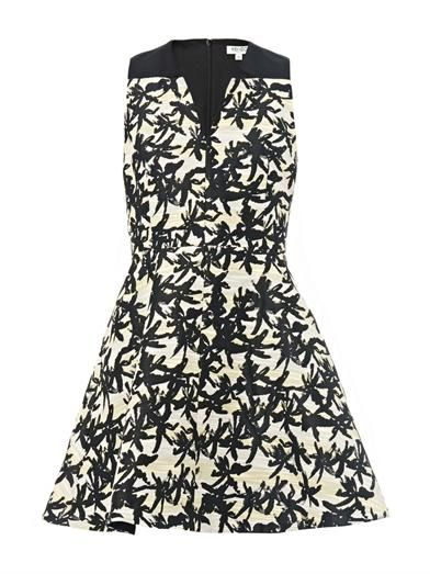 Kenzo Palm-jacquard dress