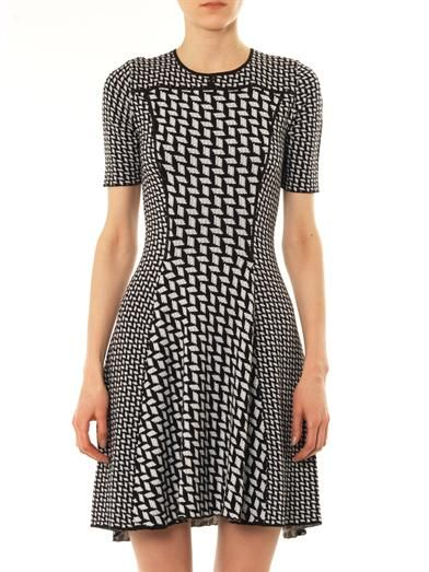 Kenzo Graphic intarsia-knit dress