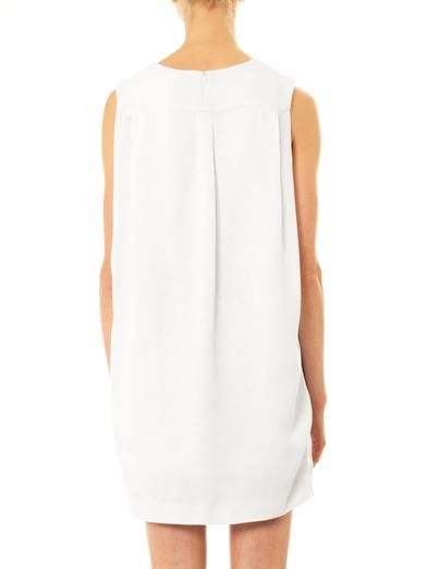Kenzo Draped-back textured-crepe dress