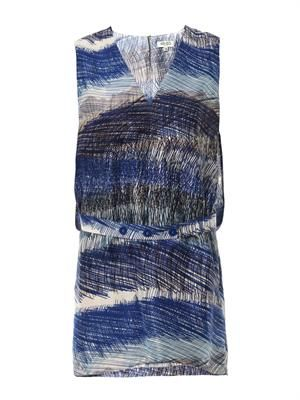 Scribble stripe-print shift dress
