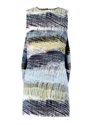Scribbles-print sleeveless dress