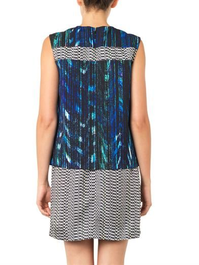 Kenzo Mixed-print layered dress