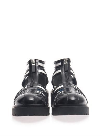 Kenzo Cut-out bi-colour chunky boots
