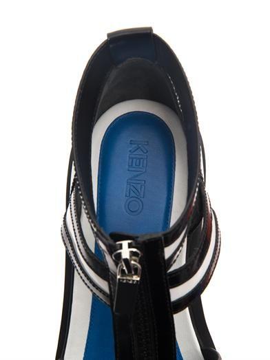 Kenzo Cut-out bi-colour chunky boots