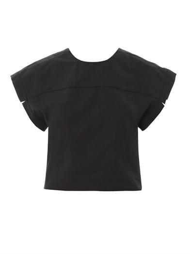 Kenzo V-back cropped blouse
