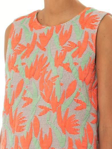 Kenzo Palm-jacquard sleeveless top