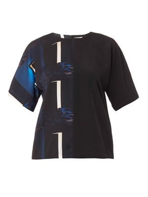 Doors-print crepe blouse