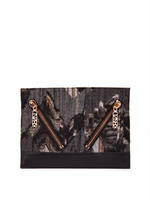 Kalifornia mountains-print clutch