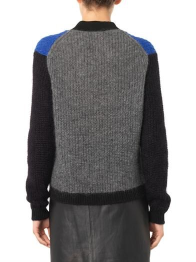 Kenzo Colour-block mohair-blend sweater