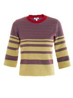 Jacquard intarsia knit sweater