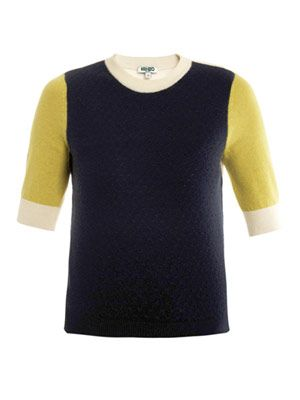 Cashmere block-knit sweater