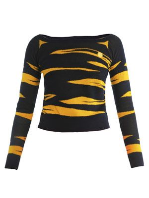 Tiger jacquard-knit sweater