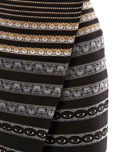 Kenzo Ribbon-embroidered neoprene skirt