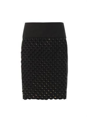 Origami-effect skirt