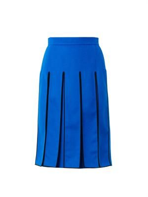 Split-panel knee-length skirt