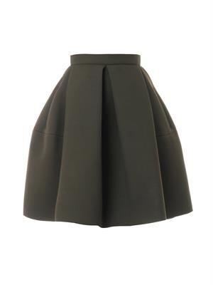 Bonded crepe skirt