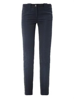 Diamond jacquard skinny trousers