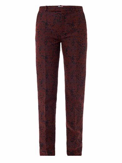 Kenzo Dragon scales jacquard trousers