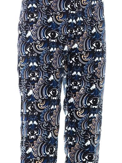 Kenzo Temple eyes-print trousers
