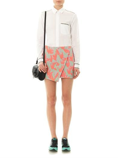 Kenzo Palm jacquard mini skirt