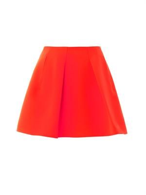 Techno-crepe mini skirt