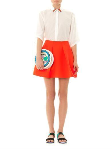 Kenzo Techno-crepe mini skirt