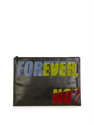 Forever No? leather pouch