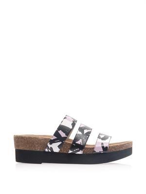 Triple strap sandals