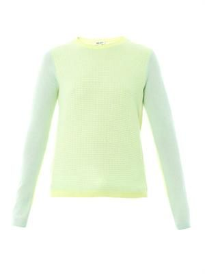 Colour-block cashmere sweater