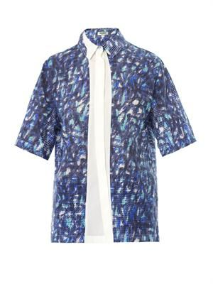 Laser-cut scribble-print shirt