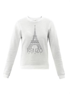Eiffel Tower stripe sweatshirt
