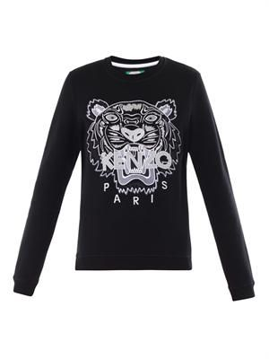 Tiger-embroidered sweatshirt