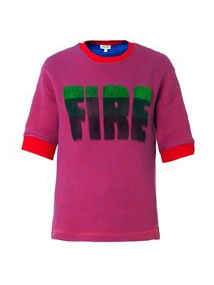 Fire slogan sweatshirt