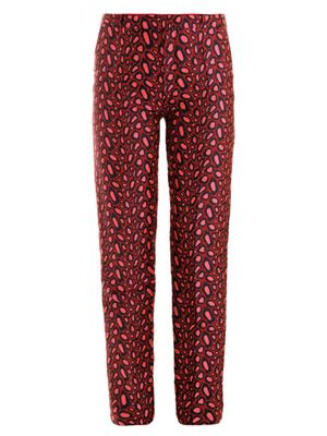 Clouded leopard jacquard trousers