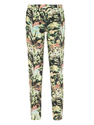 Forest-print trousers