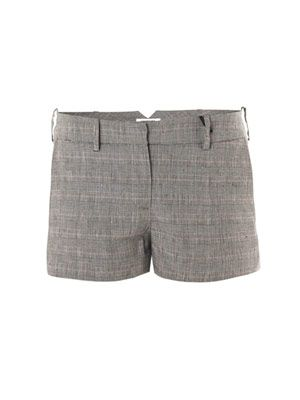 Grey orchid check shorts