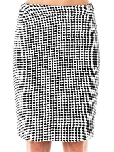 L'Agence Basket-weave panel skirt