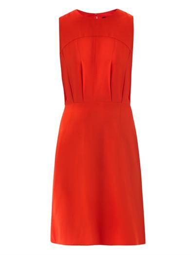 L'Agence Draped back sleeveless dress