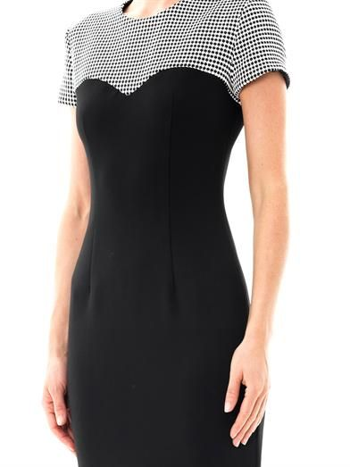 L'Agence Basket-weave panel dress
