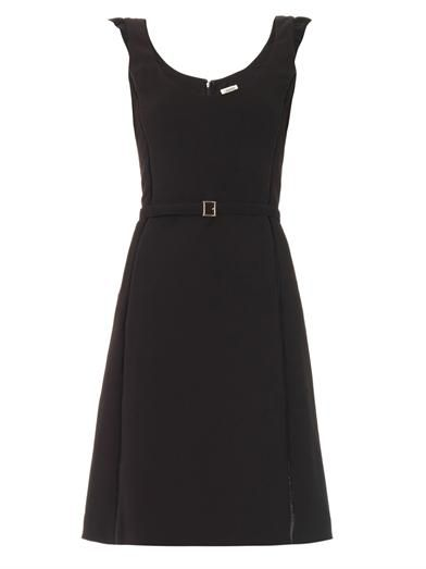 L'Agence Ruffle shoulder dress