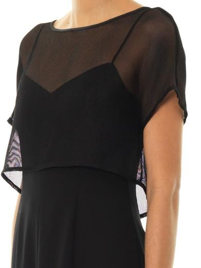 L'Agence Mesh cape dress