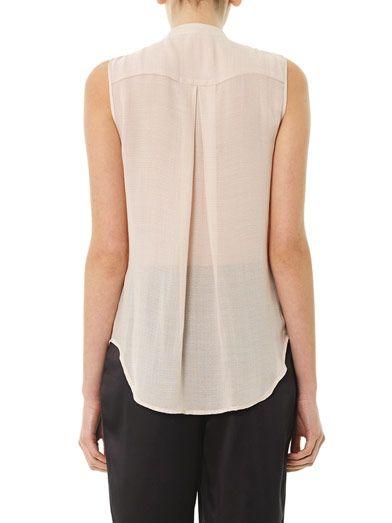 L'Agence Embellished-bib silk blouse