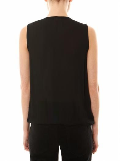 L'Agence Embellished silk top