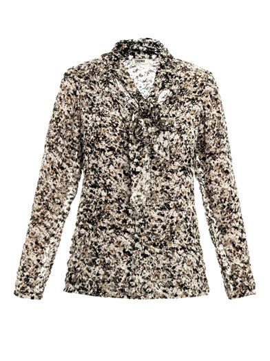 L'Agence Earth granite-print blouse