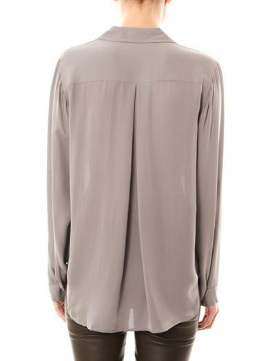 L'Agence Silk pocket blouse