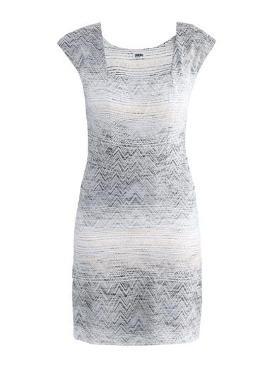 L'Agence Abstract jacquard dress
