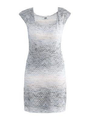 Abstract jacquard dress
