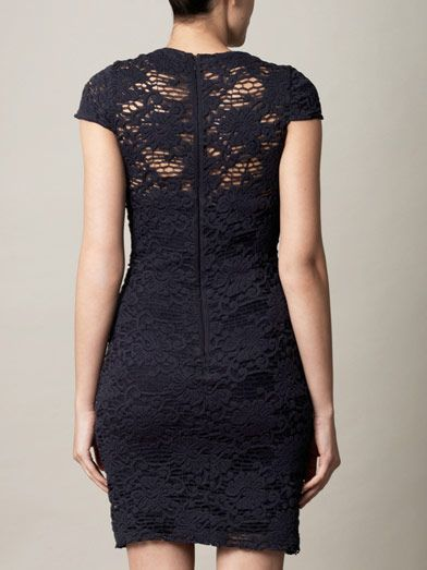 L'Agence Crochet lace stretch dress