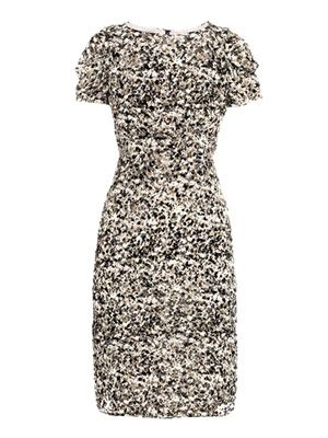 Earth granite print dress