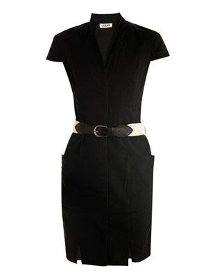 Belted shirt-dress